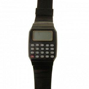 Часы наручные детские, электронные, с силиконовым ремешком, с калькулятором, микс, l=21 см