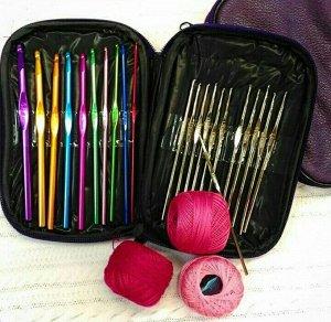 Набор крючков для вязания в чехле 22шт