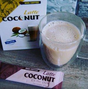 LATTE 3 in1 BAN COFFE кокосовые сливки 1 шт