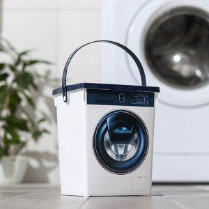 Контейнер для стирального порошка 5 л, цвет белый