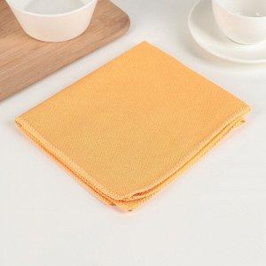 Салфетки из микрофибры для уборки пыли «Блеск янтаря», 32?35 см