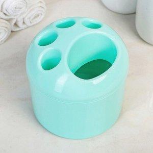 Подставка для зубных щеток, цв.мята NP1080МТ-12