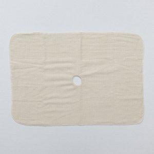 Салфетка для пола с отверстием 3-х слойная «Эконом», 50?80 см, оверлок, неткол