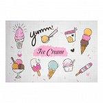 "Наклейка на кафельную плитку ""Мороженое"" 60х90 см 4764244"