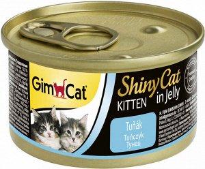 GimCat ShinyCat консервы для котят из тунца 70 г