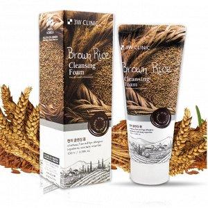 Пенка для умывания с экстрактом коричневого риса 3W Clinic Brown Rice Foam Cleansing, 100ml