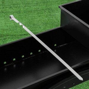 Шампур прямой , для люля кебаб, 65 см х 1,5 см, нержавеющая сталь 2,5 мм