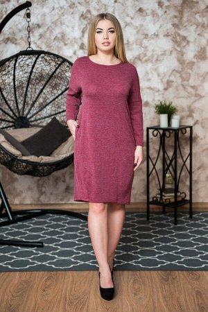 Платье Артикул: ШАР-0149-12; Ткань: Ангора; Вес- от: 380 г.; Цвет: Бордовый Скачать таблицу размеров                                                 Утепленное платье выполненное из ангорки, согреет