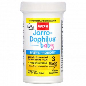 Jarrow Formulas, Jarro-Dophilus Baby, Baby&#x27 - s Probiotic, 3 Months - 4 Years, 3 Billion Live Bacteria, 2.1 oz (60 g)
