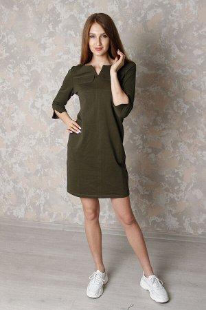 Платье Количество в упаковке: 1; Артикул: ДЕ-939-h; Цвет: Зелёный; Ткань: Футер 2-х нитка; Состав: 92% хлопок,8% эластан.; Цвет: Красный Платье молодежное