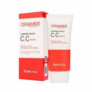 Farmstay Укрепляющий CC-крем с керамидами Ceramide Firming Facial CC Cream SPF50+ PA