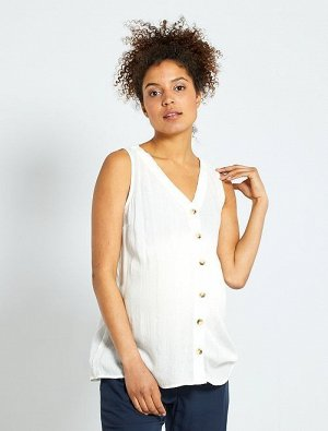 Блузка на пуговицах для беременных