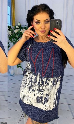 Платье 881468 синий Весна Украина
