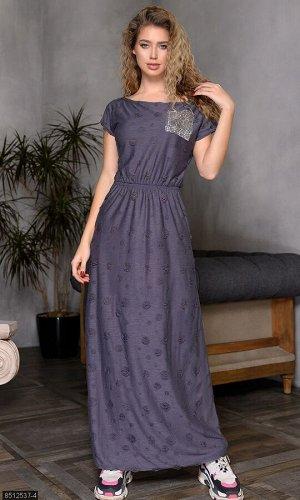 Платье 8512537-4 серый Весна Украина