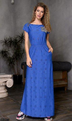 Платье 8512537-2 синий Весна Украина