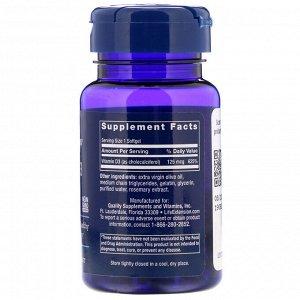Life Extension, Витамин D3, 125 мкг (5000 МЕ), 60 мягких желатиновых капсул