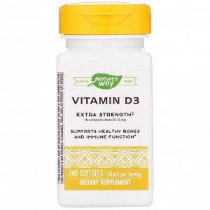 Nature&#x27 - s Way, Витамин D3, 2000 МЕ, 240 мягких таблеток