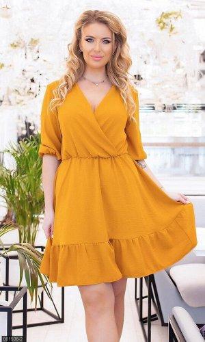 Платье 881506-2 желтый Весна Украина