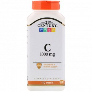 21st Century, Витамин C, 1000 мг, 110 таблеток