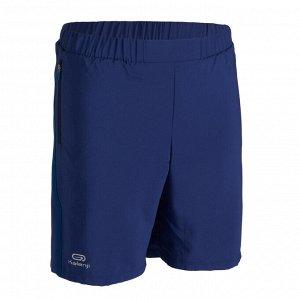 Шорты легкоатлетические детские темно-синие Baggy AT 100 KALENJI