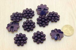Пуговицы-кабошон 25мм (фиолетовый), упак.10шт