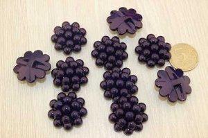 Пуговицы-кабошон 30мм (фиолетовый), упак.10шт