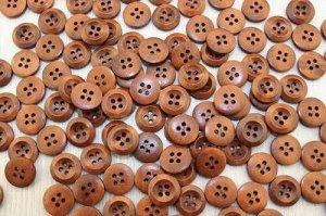 Пуговицы деревянные 13мм (коричневый), упак. 50гр (170-180 шт)