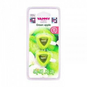 """Ароматизатор на дефлектор YAMMY жидкий """"Green Apple"""" (1/12/144)"""