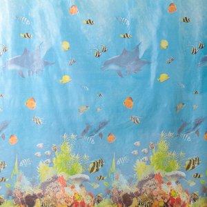 Штора для ванной комнаты Доляна «Рыбки», 180?180 см, PEVA
