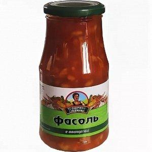 Фасоль с овощами Угощение славянки, 530 г