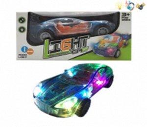 Инерционная светящаяся с прозрачным корпусом гоночная машина
