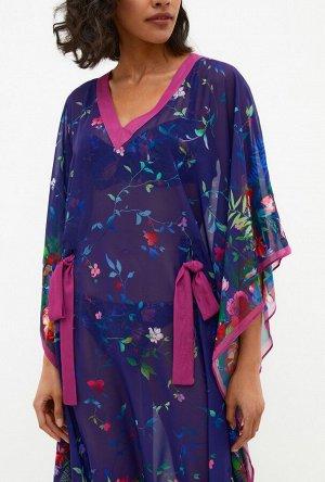 Платье пляжное жен. Atea холодный синий принт