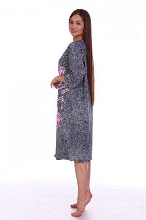 Платье Ткань: Кулирка; Состав: 100% хлопок; Размеры: 50, 52, 54, 56, 58, 60