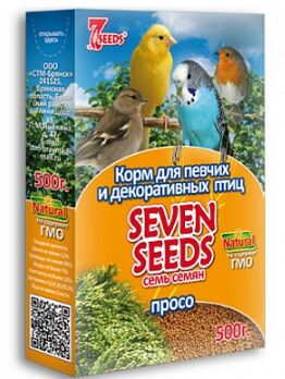 Seven Seeds корм для всех видов птиц Просо 500гр