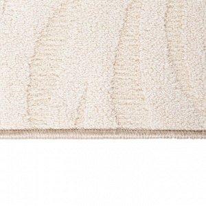 Ковер скролл АРИЯ размер 80х150 см, цвет бежевый 106/3, войлок 195 г/м2