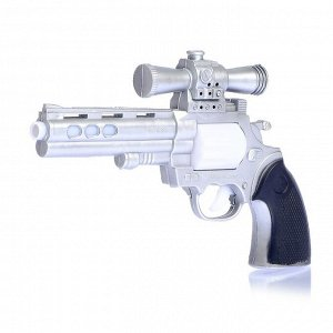 Пистолет «Револьвер», световые и звуковые эффекты, работает от батареек, цвета МИКС