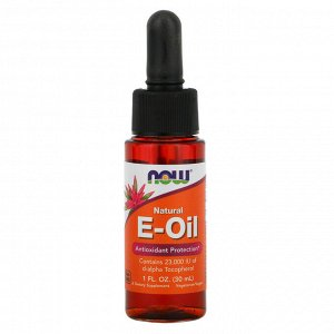 Now Foods, Натуральное E-масло, антиоксидантная защита, 1 жидкая унция (30 мл)