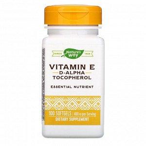 Nature&#x27 - s Way, Vitamin E, 400 IU, 100 Softgels