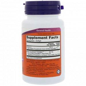 Now Foods, Токотриенолы из красного пальмового масла, 50 мг, 60 желатиновых капсул