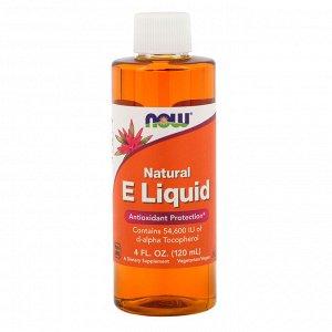 Now Foods, Натуральный жидкий витамин E, 4 ж. унц. (120 мл)