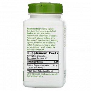 Nature&#x27 - s Way, Echinacea Purpurea Herb, 1,200 mg, 180 Vegan Capsules