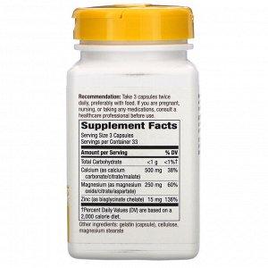 Nature&#x27 - s Way, Calcium Mag & Zinc Mineral Complex, 765 mg, 100 Capsules