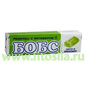"""Бобс """"Мята с эвкалиптом"""" с витамином """"С"""" леденцы от кашля - БАД, 35 г, 10 шт."""