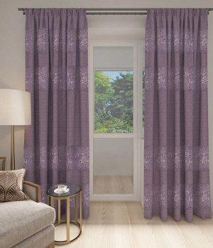 Рогожка Цветы фиолетовый/фиолетовый (150*260)/1, Рогожка Цветы фиолетовый/фиолетовый (150*260)/1, шт