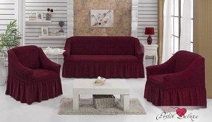 Набор чехлов для дивана Bulsan Цвет: Бордовый. Производитель: BULSAN