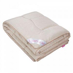 Одеяло ОВЕЧЬЯ ШЕРСТЬ 300 гр.  Soft&Soft  1,5 спальное, в микрофибре с тиснением, 100% полиэстер