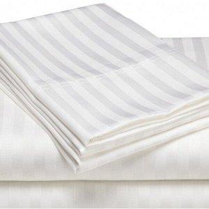 Простыня Arthur Цвет: Белый, Полоса 3-3 (220х230). Производитель: Л-Текстиль