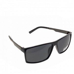 Стильные мужские очки Men в чёрной оправе с чёрными линзами.