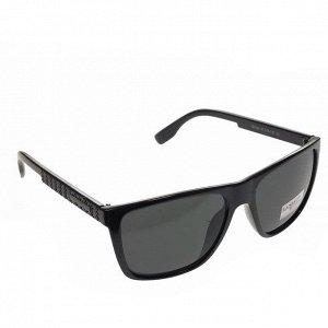 Стильные мужские очки Azzur в чёрной оправе с чёрными линзами.