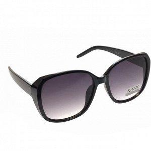 Стильные женские очки оверсайз Asty чёрного цвета с затемнёнными линзами.